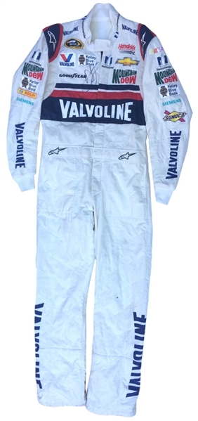 SEPTEMBER 15, 2015 DALE EARNHARDT, JR. SIGNED NASCAR RACE USED DRIVERS SUIT PHOTO MATCHED