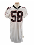 1996 JESSIE TUGGLE SIGNED ATLANTA FALCONS GAME USED PHOTO MATCHED JERSEY - ANDERSON LOA