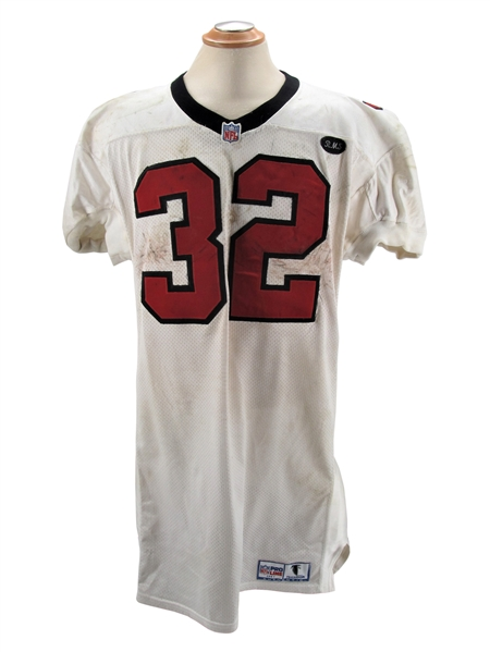 1997 JAMAL ANDERSON ATLANTA FALCONS SIGNED GAME USED JERSEY AND PANTS - ANDERSON LOA