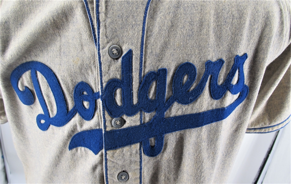 1951 JIM GILLIAM BROOKLYN DODGERS GAME USED JERSEY