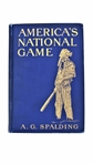 1911 A.G. SPALDING SIGNED AMERICAS NATIONAL GAME BOOK