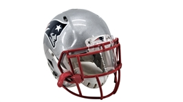 SUPER BOWL XLIX AKEEM AYERS NEW ENGLAND GAME USED HELMET +