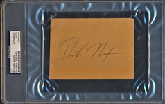 "PRESIDENT RICHARD ""DICK"" NIXON SIGNED CUT PSA SLABBED"
