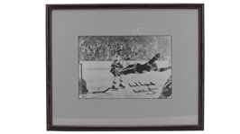 BOBBY ORR SIGNED FRAMED FLYING GOAL PHOTO