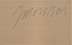 ROCK N ROLL LEGEND JIM MORRISON SIGNED CUT