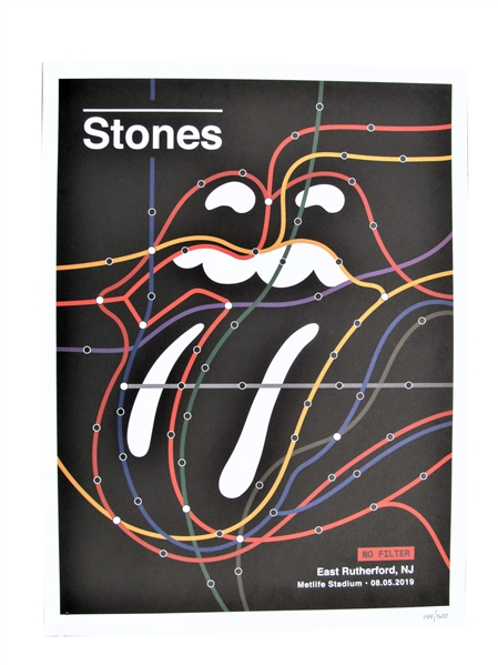 2019 ROLLING STONES LIMITED EDITION CONCERT POSTER 144/500