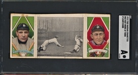 1912 T202 HASSAN CIGARETTES #65 WORK AT THIRD O.LEARY/COBB SGC A