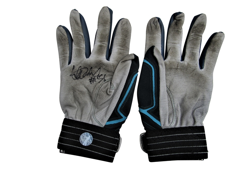 PAIR OF ICHIRO SUZUKI GAME USED SIGNED BATTING GLOVES