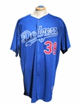ERIC GAGNE SIGNED LOS ANGELES DODGERS GAME USED BP JERSEY