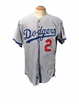 1998 TOMMY LASORDA SIGNED LA DODGERS GAME WORN JERSEY