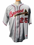 CIRCA 2004 ANDRUW JONES SIGNED TURN BACK THE CLOCK JERSEY - JONES LOA