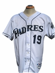 2001 TONY GWYNN SIGNED SAN DIEGO PADRES GAME USED JERSEY