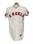 1966 DEAN CHANCE CALIFORNIA ANGELS GAME USED JERSEY