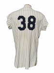 1963 JOHNNY BLANCHARD NEW YORK YANKEES SIGNED GAME USED UNIFORM (2)