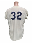 1966 ELSTON HOWARD NEW YORK YANKEES GAME USED UNIFORM (2)