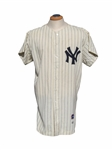 1962 BOB CERV NEW YORK YANKEES SIGNED GAME USED JERSEY