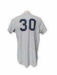 1970 MEL STOTTLEMYER NEW YORK YANKEES SIGNED GAME USED JERSEY
