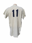 1963 HECTOR LOPEZ NEW YORK YANKEE GAME USED JERSEY