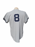 1978 YOGI BERRA NEW YORK YANKEES WORLD SERIES SEASON GAME USED JERSEY