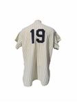 1955 BOB TURLEY NEW YORK YANKEE WORLD SERIES SEASON GAME USED JERSEY