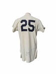 1968 JOE PEPITONE NEW YORK YANKEES SIGNED GAME USED JERSEY