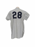 RARE 1961 BUD DALEY WORLD SERIES SEASON NEW YORK YANKEES GAME USED JERSEY DALEY LOA
