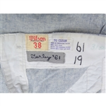1961 BOB TURLEY WORLD SERIES SEASON GAME USED PANTS