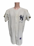 1965 AUTHENTIC NEW YORK YANKEES JERSEY SIGNED BY MICKEY MANTLE