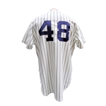 1977 MIKE TORREZ NEW YORK YANKEES GAME USED JERSEY
