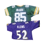 LOT OF 7 SIGNED FOOTBALL JERSEYS