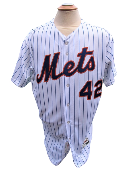 2018 JAY BRUCE NEW YORK METS JACKIE ROBINSON DAY GAME USED JERSEY - MLB