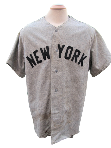 CIRCA 1935 BABE RUTH UNIFORM THAT WAS USED AS A DISPLAY