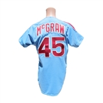 1981 TUG McGRAW PHILLIES GAME USED JERSEY
