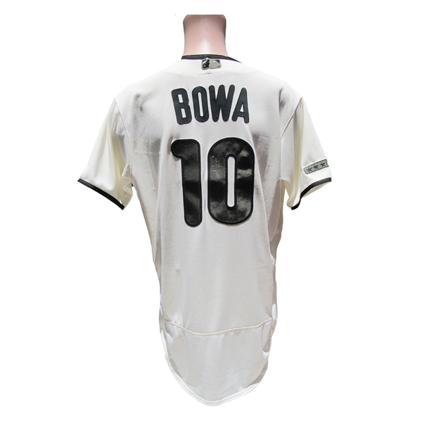 2017 LARRY BOWA PHILLIES SIGNED GAME USED MEMORIAL DAY JERSEY MLB