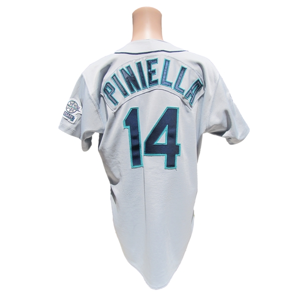 1997 LOU PINIELLA MARINERS GAME USED JERSEY 2 PATCHES