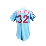 1984 PHILLIE JERSEYS STEVE CARLTON AND MIKE SCHMIDT SIGNED JERSEYS