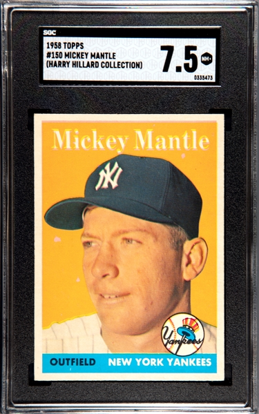 1958 TOPPS MICKEY MANTLE SGC 7.5