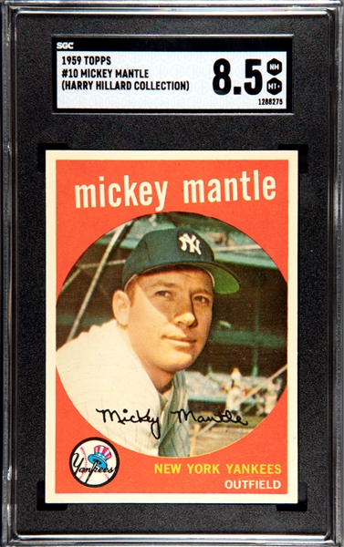 1959 TOPPS MICKEY MANTLE SGC 8.5