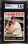 1964 TOPPS MICKEY MANTLE SGC 7.5