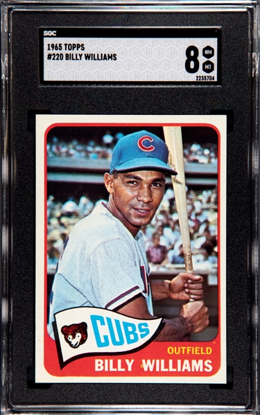1965 TOPPS BILLY WILLIAMS SGC 8