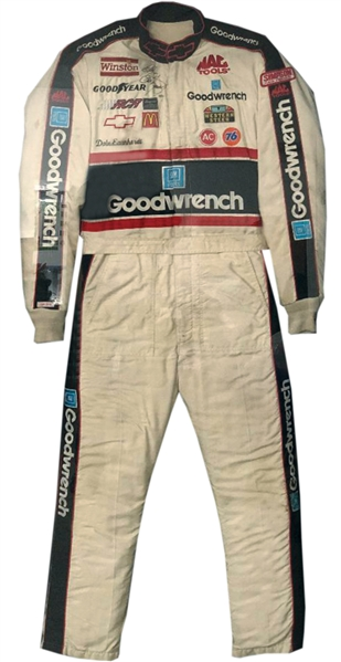 1991 DALE EARNHARDT SIGNED GOODWRENCH WIN SUIT EARNHARDT LOA