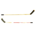 WAYNE GRETZKYS ACTUAL 1700TH GAME USED STICK AND PUCK 2 LOAs